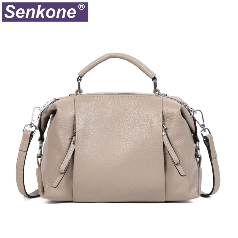 100% Genuine Leather Women Handbag Fashion Totes High Quality Shoulder Bag Classic Female Crossbody Bag 2021 New Women Bags gray