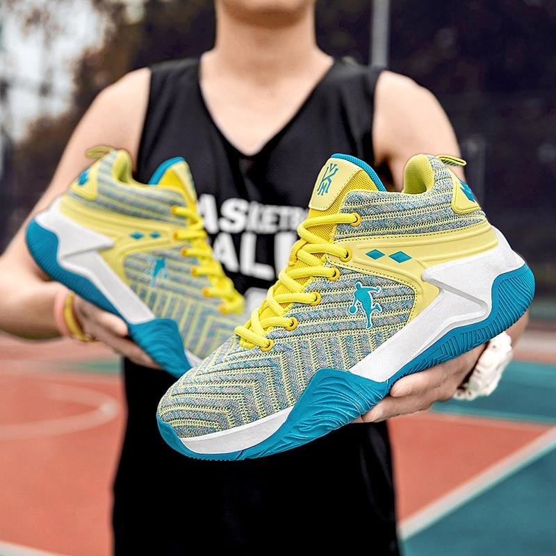 Высококачественные легкие баскетбольные кроссовки, дышащие Нескользящие баскетбольные кроссовки, мужские кроссовки на шнуровке, баскетбо... баскетбольные кроссовки nike 14q4 jordan spizike 315371 407