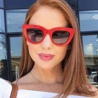 new vintage sunglasses cat eye shade for women luxury designer triangular sun glasses retro cateye glasses oculos female eyewear