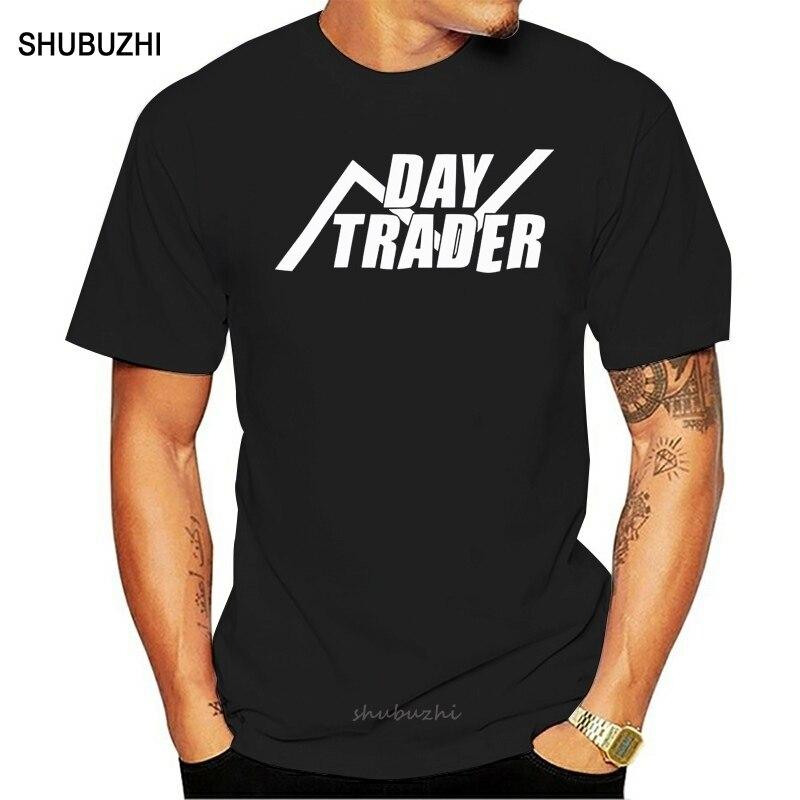 Dia trader t camisa dos homens ações comércio forex empresário daytrading gambling t men algodão tshirt marca verão teesshirt