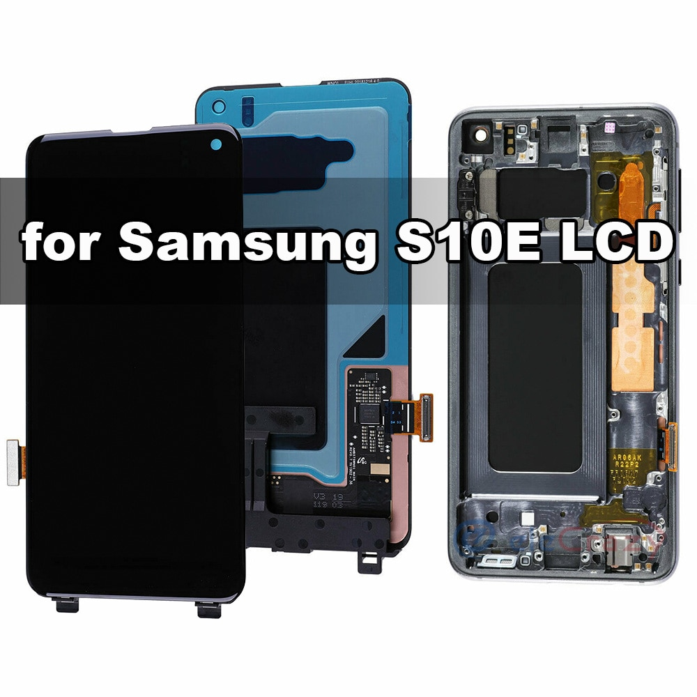 Original AMOLED for Samsung Galaxy S10E G970F LCD Display with Touch Digitizer and Frame Assembly Replacement 100% Tested