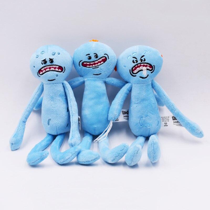 """3 estilos, 10 """"25cm, Mr. Meeseeks, juguete de peluche, Sanchez Smith Jerry, científico triste, Rick Morty, juguetes de peluche, juguetes de Anime para niños"""