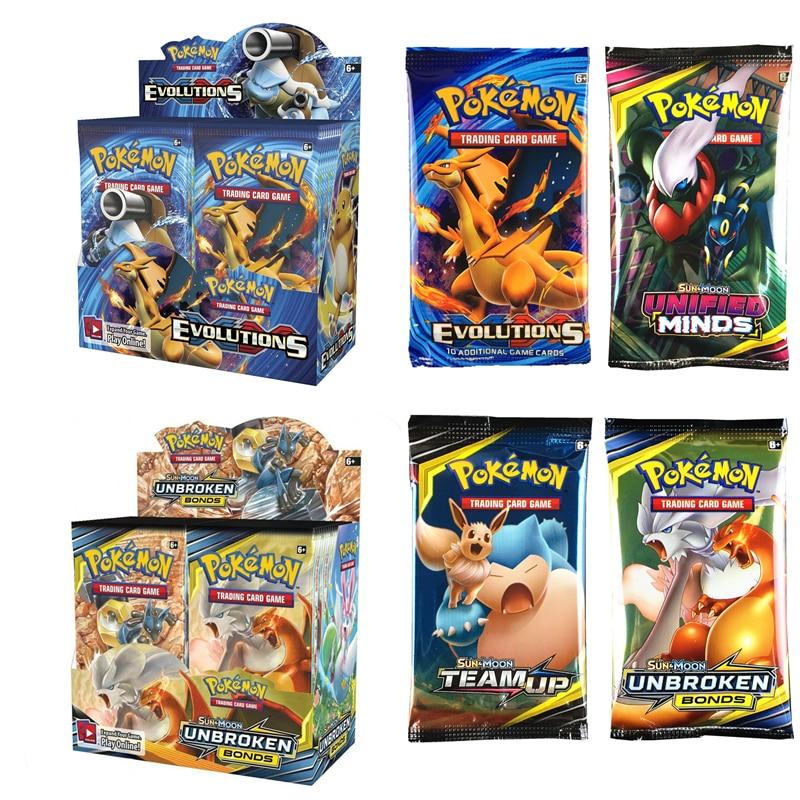 324Pcs Pokemones Card Sun & Moon Burning Shadows Tag Team GX MEGA Trading CardS Game Set Toys Gift for Children