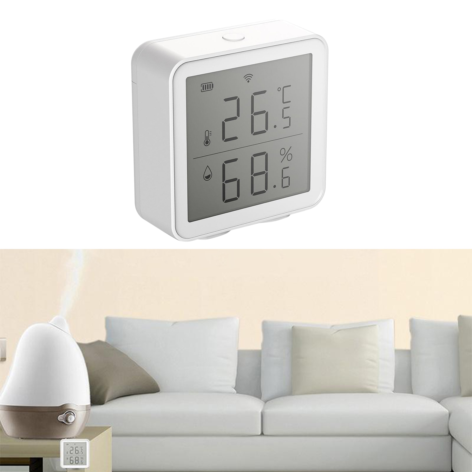 Wifi LCD Innen Thermometer Digital Hygrometer Temperatur Feuchtigkeit Display DC 4,5 V
