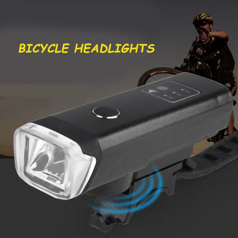 Linterna LED para bicicleta, recargable vía USB, resistente al agua, luz frontal de advertencia para ciclismo al aire libre