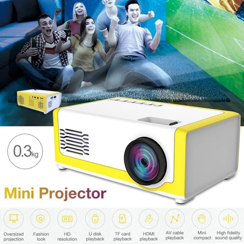 Miniproyector Led Yg300, LED YG-300 de 1080P, Full HD, compatible con HDMI, USB, AV, TF, PS4, portátil, multimedia para casa