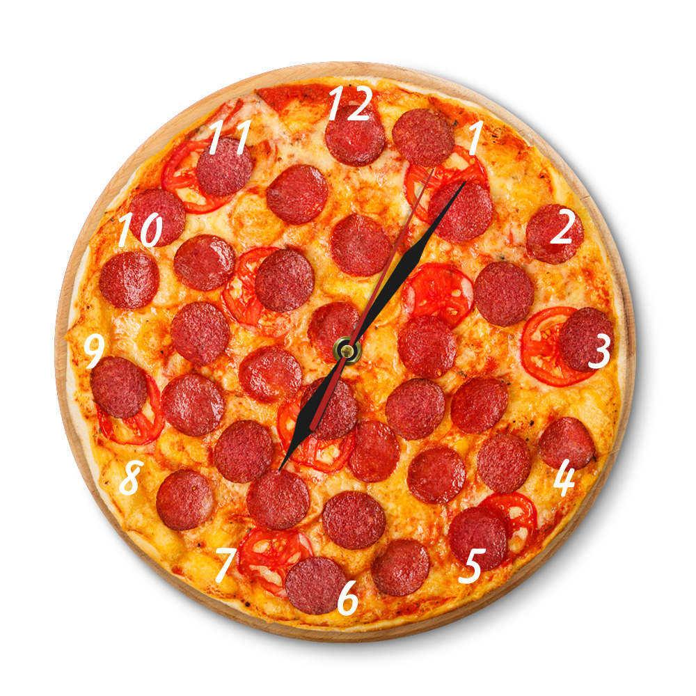 Reloj de pared italiano de Pepperoni, comida de Pizza, acrílico, restaurante italiano, reloj decorativo, Pizzeria, Pasta, Chef, reloj de regalo Vintage