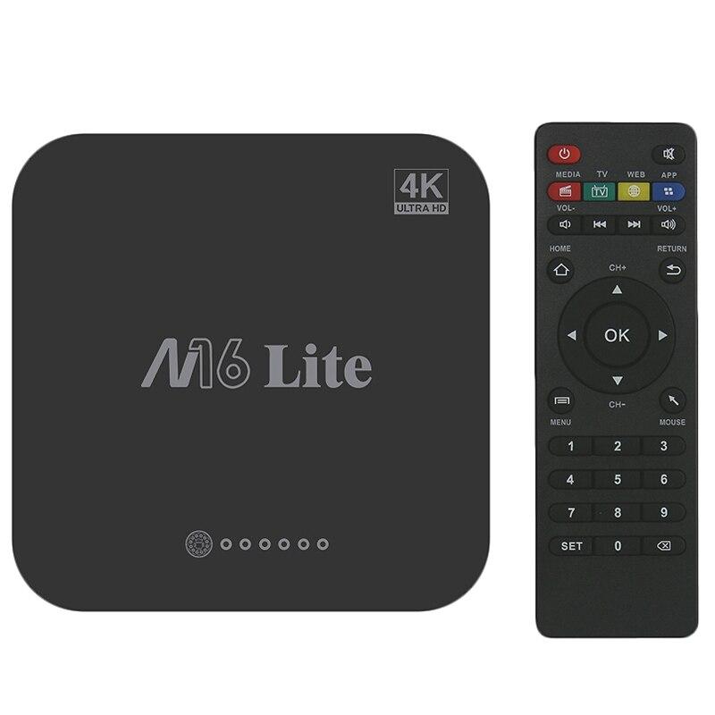 M16 Lite Android Smart Tv Box 1G Ddr3 8G Emmc Rom Set Top Box 4K 3D H.265 Wifi Media Player Tv Receiver Eu Plug