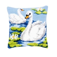 latch hook kits pillow swan diy handmade printed canvas cushion latch hook kits diy unfinished accessories