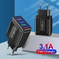 mobile phone accessories 4 usb led wall charger multi 4 port iphone plug adapter mini portable charger travel charging adapter