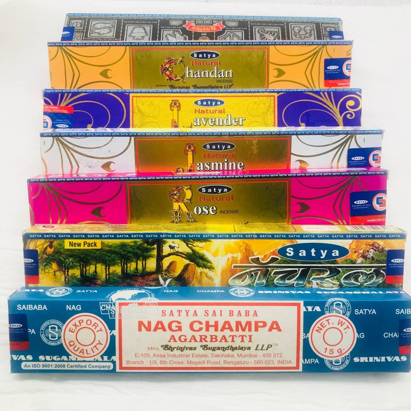 Indian Satya Nag Champa Sandalwood Line Fragrance Purifying Air Meditation Bedroom Anshen 12g E