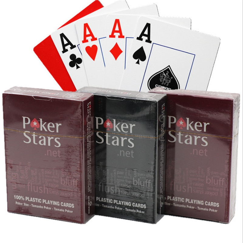 1sets playing cards plastic playing cards waterproof playing cards dull polish poker indoor family e
