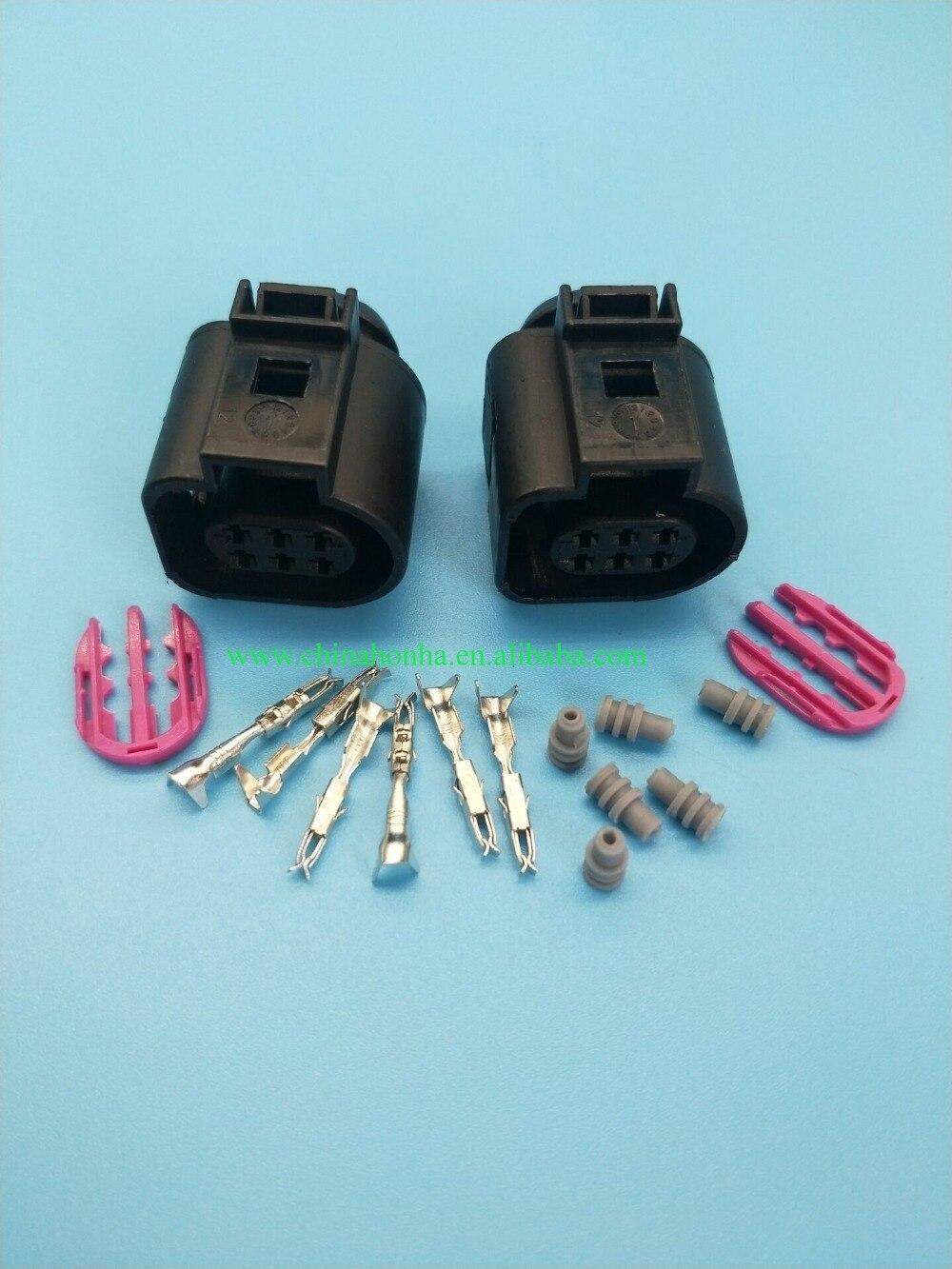5/10/20/50/100 peças 6 pinos 1.5mm à prova dwaterproof água plug válvula do acelerador elemento de controle conector 1j0 973 713 1j0973713