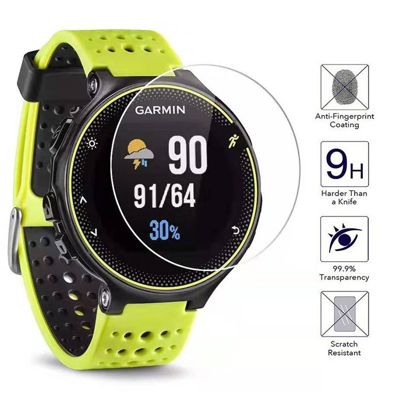 Universal limpar cobertura completa vidro temperado para garmin forerunner 235/225/220 inteligente assista protetor de tela protetora smartwatch