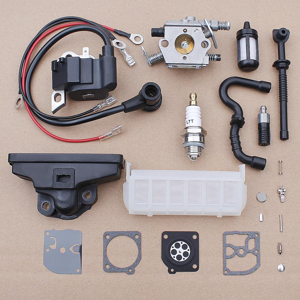 Carburador bobina de encendido de aire filtro de combustible para Stihl 021 023 025 MS250 MS210 MS230 motosierra 1123, 120 de 1651 de carbohidratos Kit de reparación