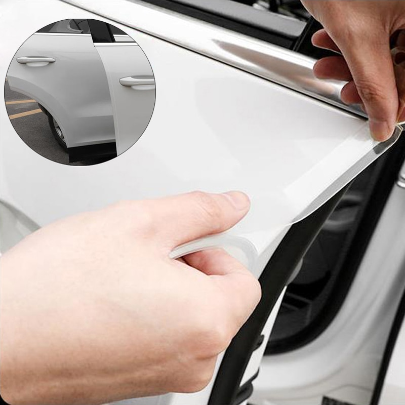 Car Door Sill Protector Tape Scratchproof bummper sticker For Audi A4 A3 Q5 Mercedes Benz W211 W204 W212 BMW E39 E46 E60