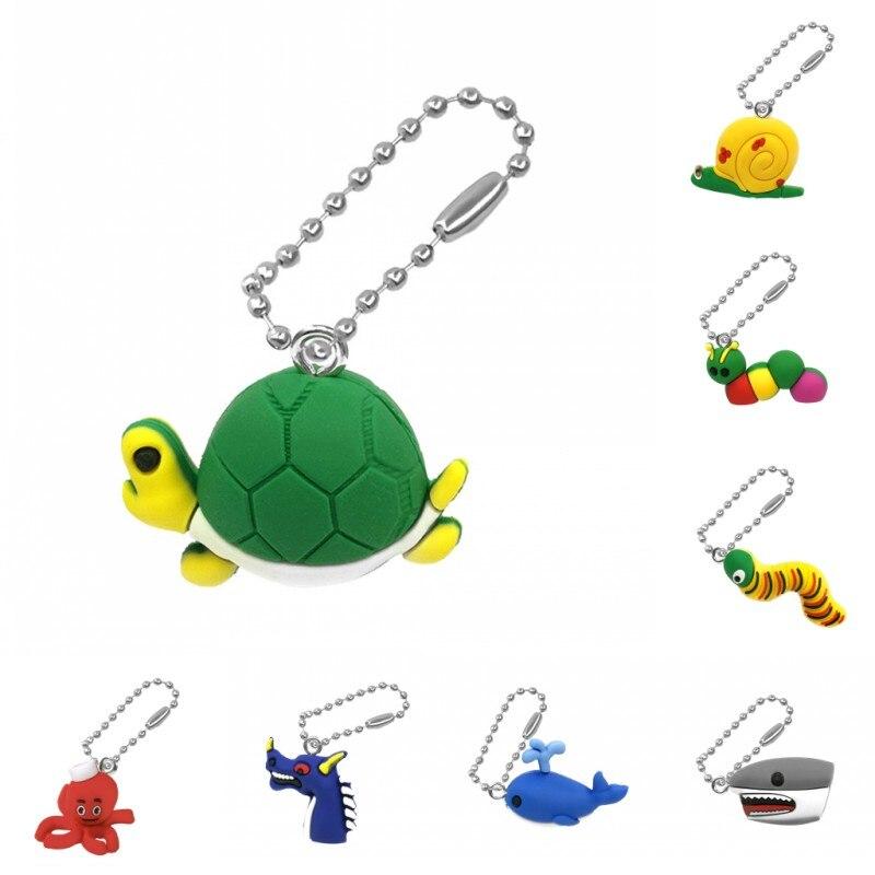 1 Uds lindo Animal tortuga oruga 3D llavero de PVC Arco Iris organizador bolsa Ropa Accesorios de escritorio llavero regalo