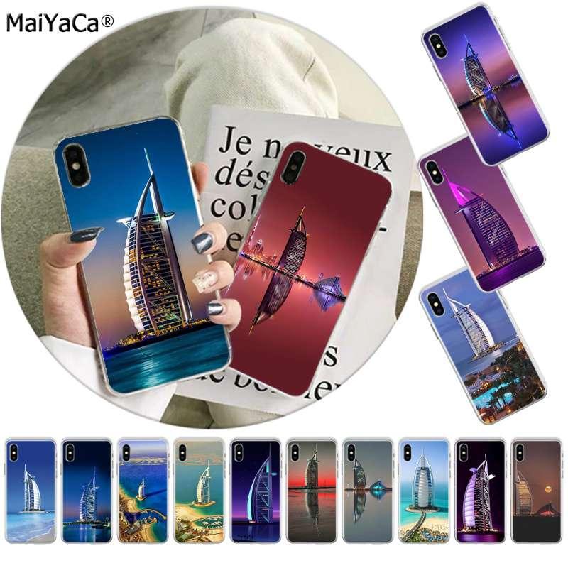 MaiYaCa Dubai Stadtansicht paisaje urbano novedad caja del teléfono para iphone SE 2020 11 pro 8 7 66S X XS X MAX 5S SE XR cubierta