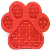 dog lick pad silicone material leak mat with suction cups pet product pet lick pad feeder rounded
