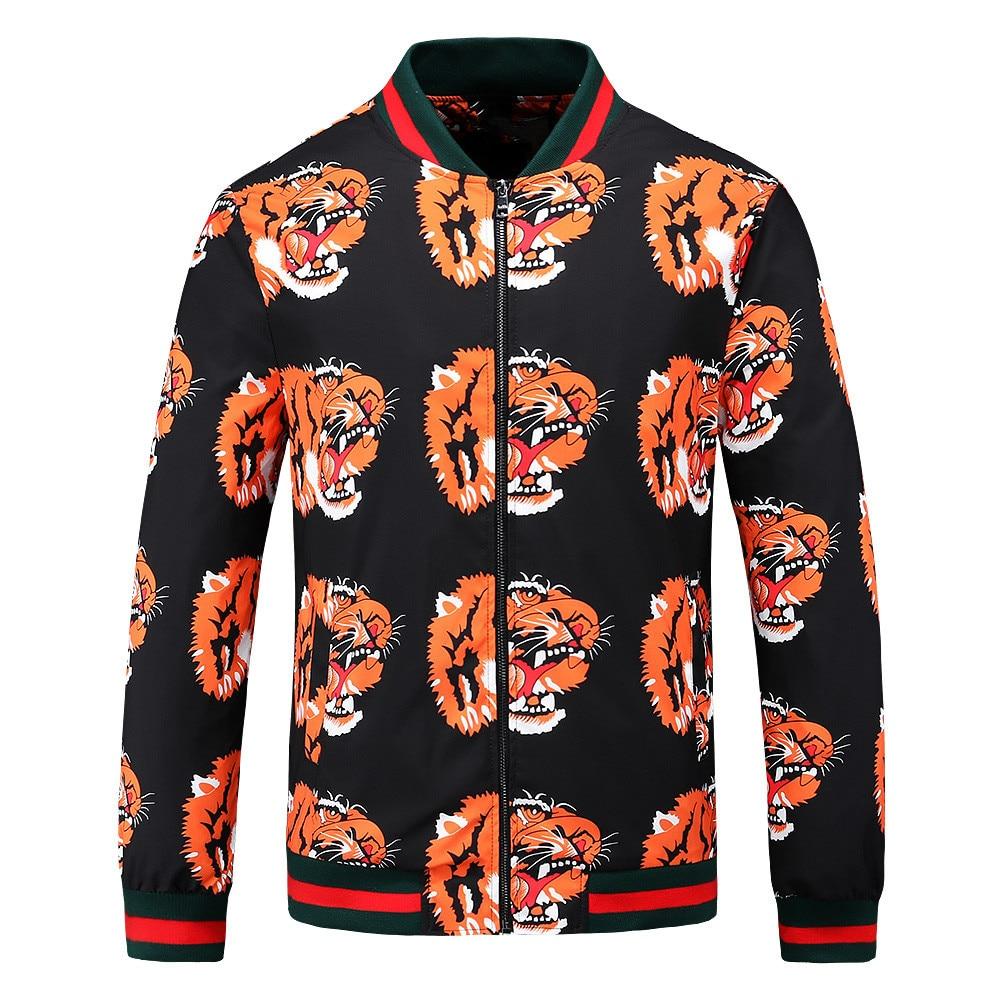 جاكيت بيسبول رجالي طويل الأكمام مطبوع عليه نمر من علامة تجارية جديدة على الموضة 20ss
