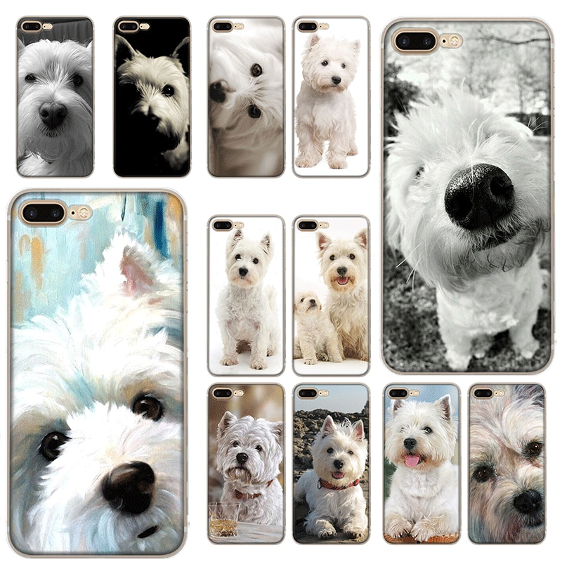 Funda de teléfono móvil para iPhone XR X XS Max 11 Pro XR 6 6S iPhone 7 8 Plus 5 5S SE, funda de TPU mi Westie dog
