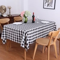 100 polyester washable checkered buffalo plaid tablecloth for family dinners picnic occasions and everyday use indooroutdoor