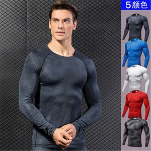 Men's T-shirt 3D Three-dimensional Printing Fitness Running Training Long-sleeved Tight Elastic Wicking Quick-drying Clothes