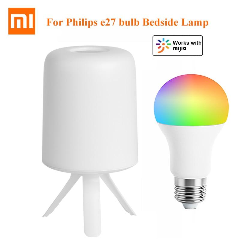 مصباح سرير Xiaomi Mijia Philips Zhirui ، مصباح سرير ذكي ، تصميم بسيط وبسيط ، إضافة 1 قطعة ، E27 ، يعمل مع تطبيق Mi Home