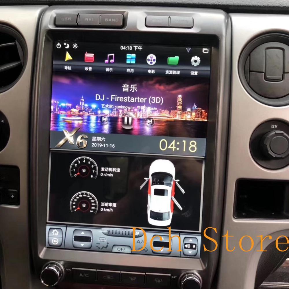 13 Vertical estilo tesla Android 9,0 reproductor de DVD del coche de navegación GPS radio para Ford F150 f-150 2009, 2010, 2011, 2012, 2013, 2014