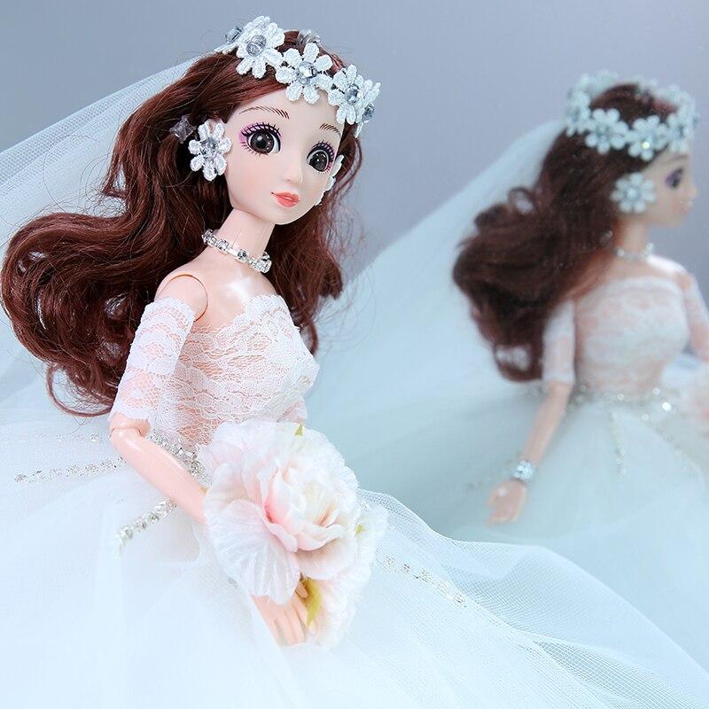 Muñecas de bodas, juguetes para niñas, ropa de alta gama hecha a mano, muñecas renacidas para niñas, muñecas de regalo de Navidad para niñas, juguetes para niños