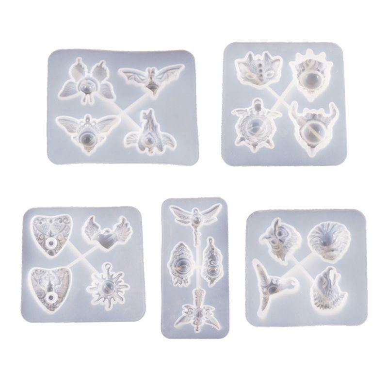 Cristal resina epóxi molde diabo olho pingente fundição molde de silicone diy artesanato jóias fazendo ferramentas