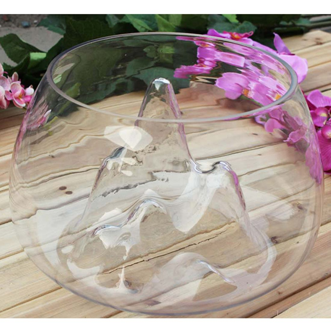 Fashion-Clear Glass Vase Fish Tank Goldfish Aquarium Bowl Home Terrarium Decor