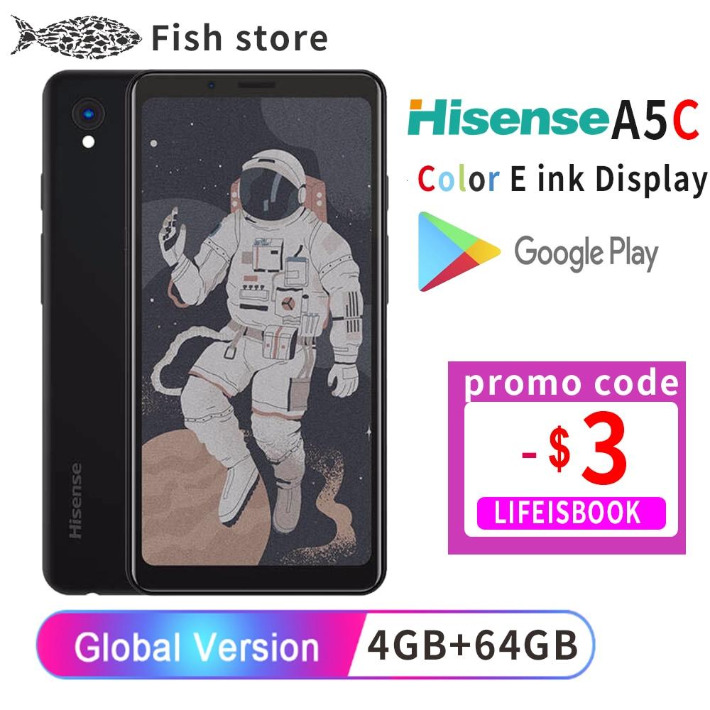 Перейти на Алиэкспресс и купить Google Play Hisense A5C Android 9,0 смартфон многоязычный цветной дисплей с защитой глаз электронная книга Kindle yota facenote