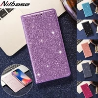 glitter leather case for samsung a51 a71 a21s a31 a41 a11 a32 a81 a20e a10 a30 a50 a70 a6 a7 a8 2018 m11 magnet flip phone cover