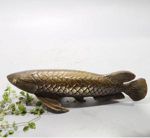 China brass archaize fish crafts statue