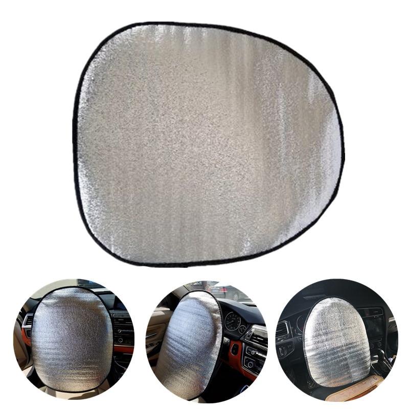 44x50cm Double Thick Foil Anti Heat Sun-proof Parasol Shield Steering Wheel Cover Mat Heat-Resistant for Auto Car Accessories