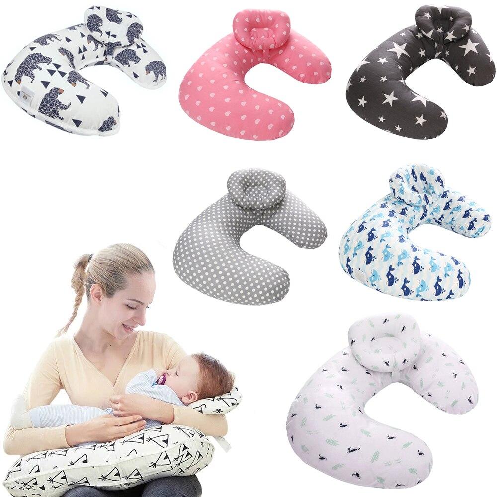Детские подушки для кормления, подушка для грудного вскармливания, U-образная подушка для кормления грудью, хлопковая Подушка для кормления...
