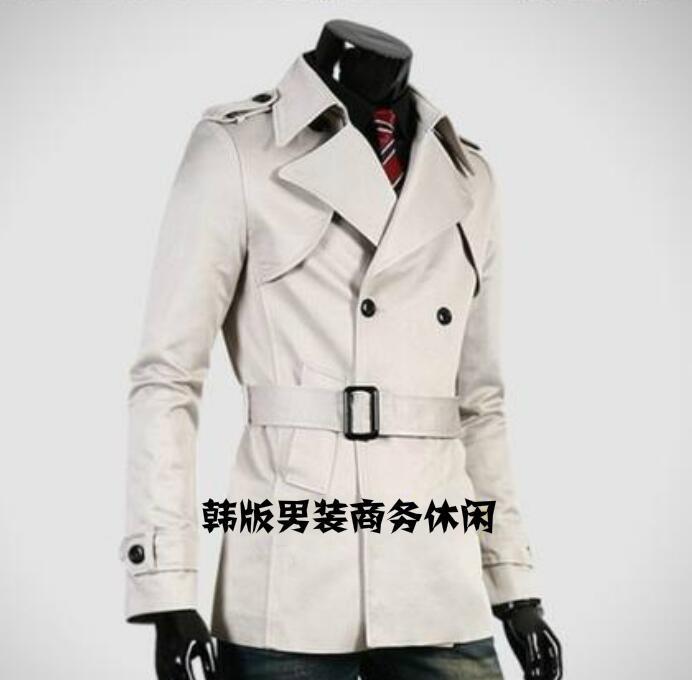 رمادي رجالي معطف واقٍ من المطر ربيع الخريف رجل مزدوجة الصدر معطف الرجال منتصف طول الملابس معطف طويل الأكمام جديد مصمم 9XL