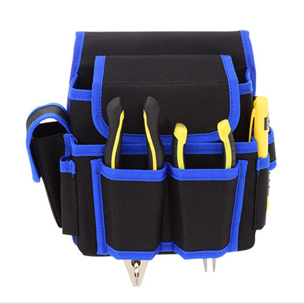 Многофункциональная сумка для инструментов электрика, тканевый поясной кошелек из ткани Оксфорд для инструментов, держатель для ремня, орг...