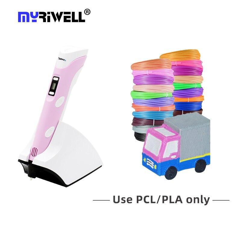 Myriwell ثلاثية الأبعاد القلم الأصلي RP-200B شاشة LED ثلاثية الأبعاد الطباعة القلم اللاسلكي شحن الإبداعية لعبة هدية للأطفال تصميم الرسم