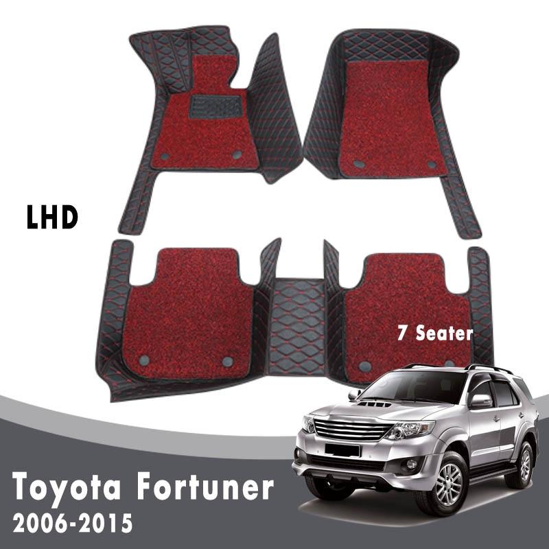 Doppel Schicht Draht Schleife Für Toyota Fortuner 2015 2014 213 2012 2011 2010 2009 2008 2007 2006 (7 Sitzer) auto Fußmatten Teppiche