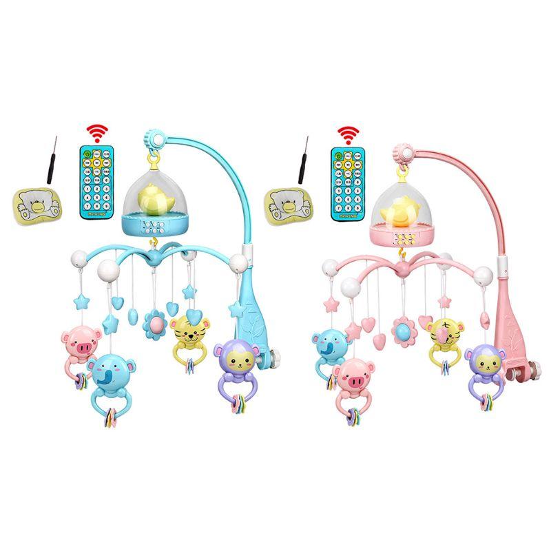 ¡Envío gratis! Sonajero de Cuna Musical para bebé cuna móvil estrellas sueños luz Flash Nusery Lullaby Toy