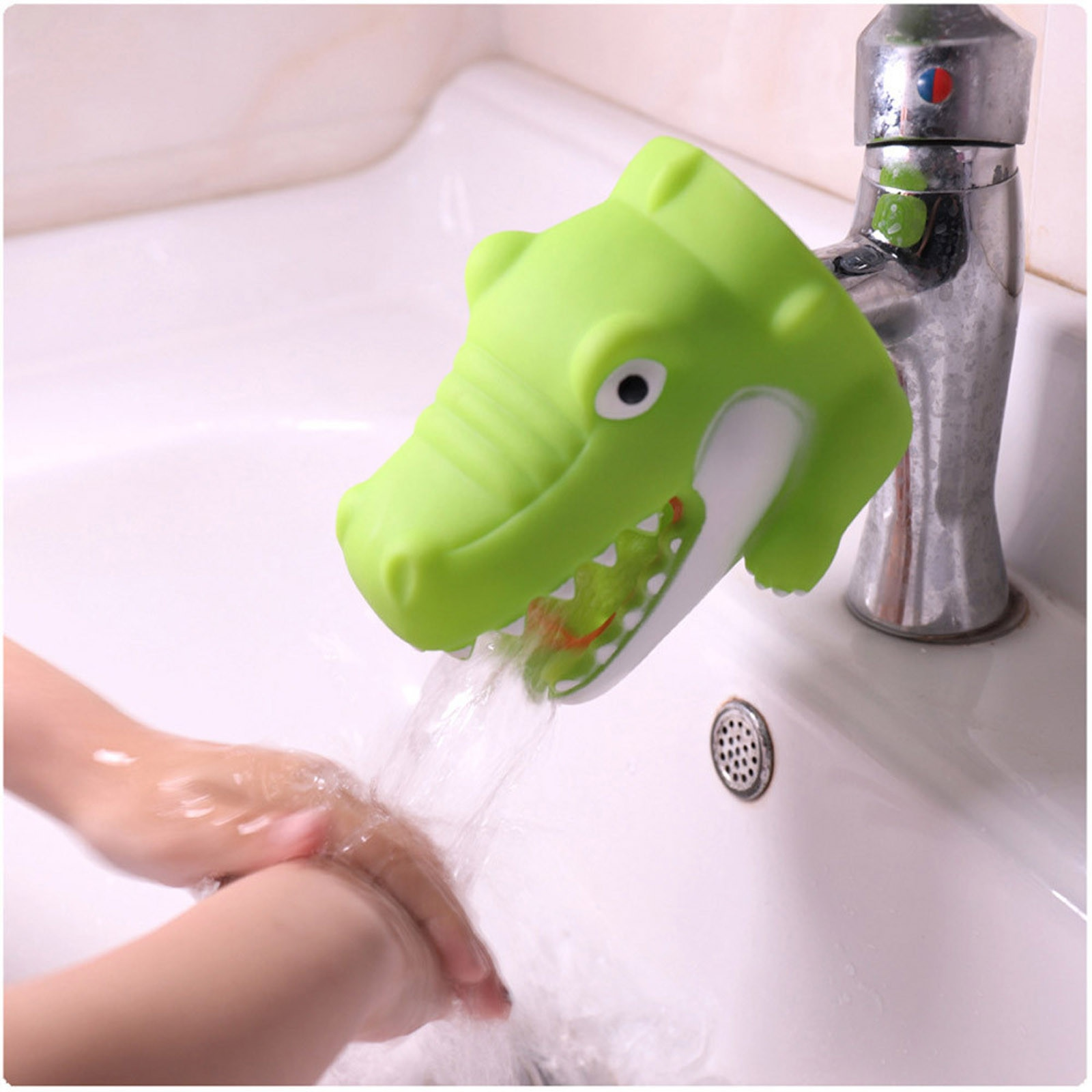 1pc Kitchen Bathroom Supplies Faucet Extender Sink Handle Extender Child Hand-washing Easily Sink Faucet Extender Accessories enlarge