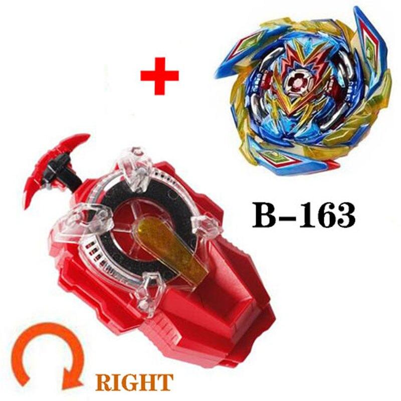 Todos los modelos lanzadores Beyblades Burst B159 B163 juguetes GT B-165 chispas giratorias izquierda y derecha superior Arena Metal Dios Fafnir Bey Blade