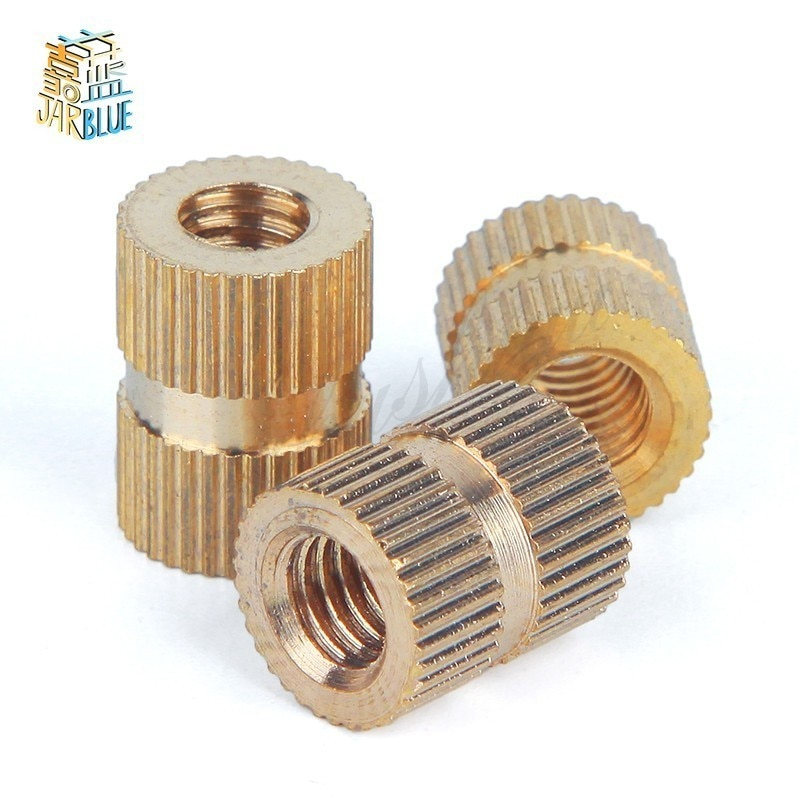 100pcs/50pcs/20pcs  M2 M2.5 M3 M4 M5 M6 M8 Brass Insert Nut Injection Molding Knurled Thread Inserts Nuts