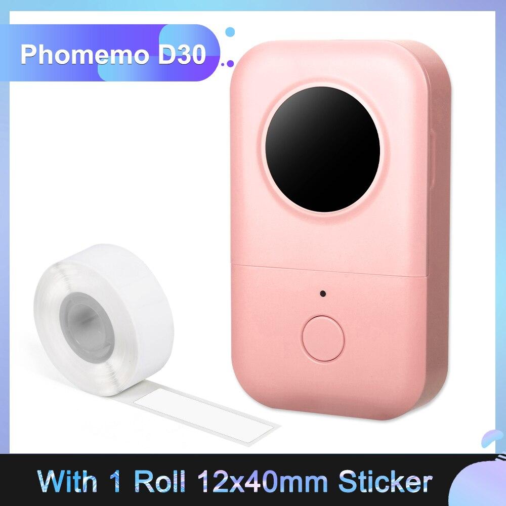 Phomemo D30 Mini BT تسمية صانع 203 ديسيبل متوحد الخواص تسمية لاسلكية مدير طابعة حرارية اسم سعر طابعة بطاقة لاصقة للمنزل