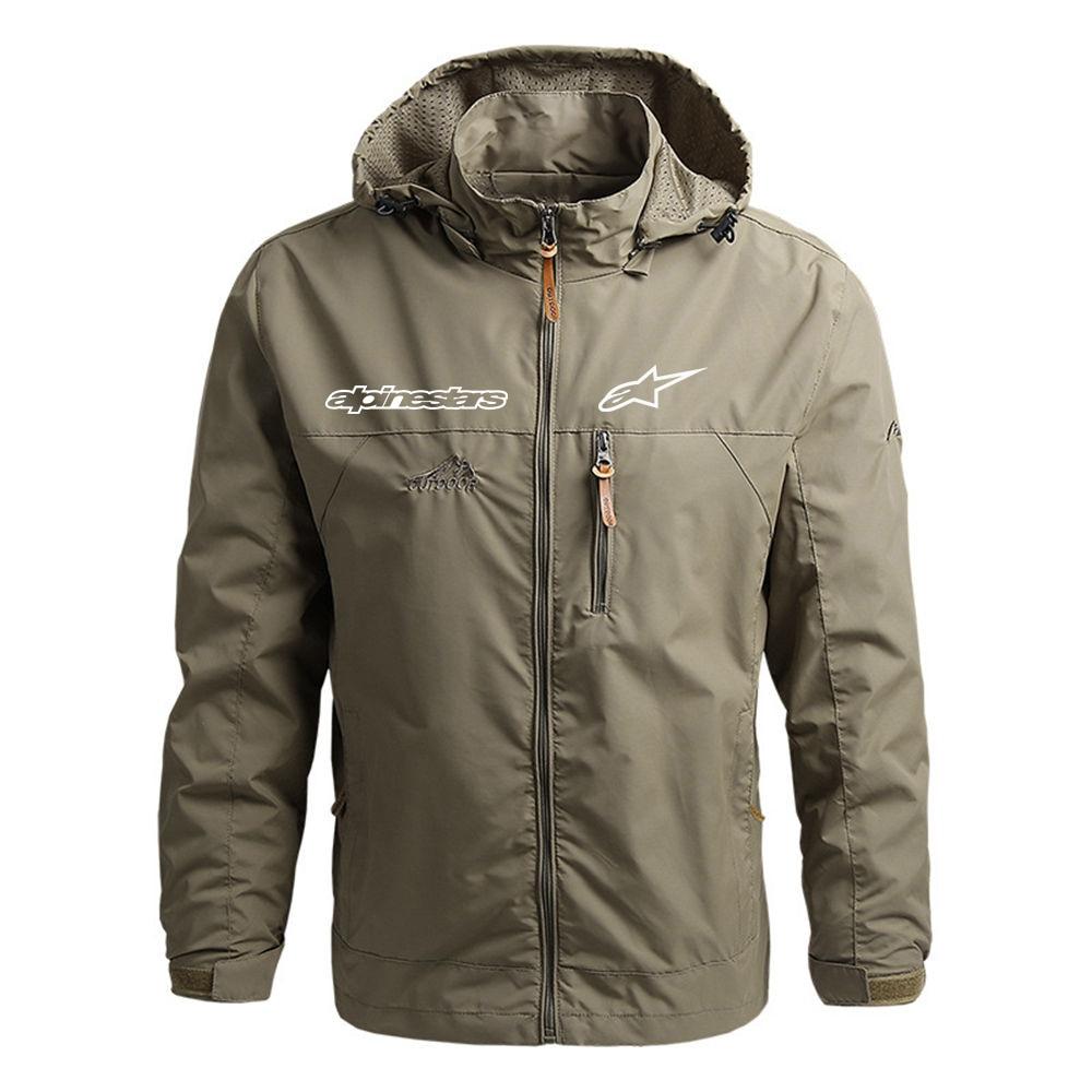New Mens Alpinestars Logo Fashion Comfortable Printing Custom Movement Fitness Windproof Style Jackets Leisure Zipper coats