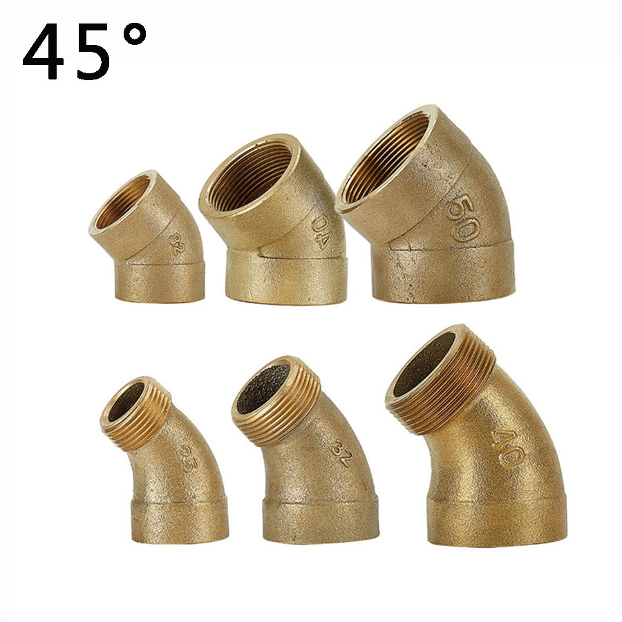 cheap price auto turbo water pipe kits for garrett turbocharger with m14 x 1 5 thread 1PCS Copper Elbow  45 Deg 1 1-1/4 1-1/2 2 BSP Female to Male Thread Equal  Water Pipe Adapter For Water Fuel Copper
