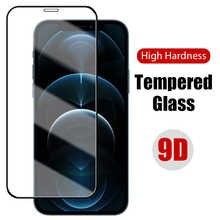 Закаленное стекло 9D с черными краями для iPhone 11, 12 Pro, защитное стекло с полным покрытием, Защита экрана для iPhone 12 Pro Max, 11 Pro