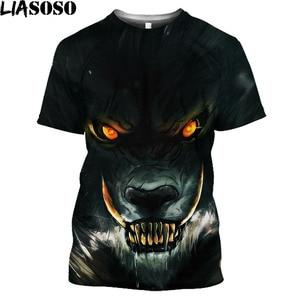 Halloweentown Werewolf 3D Printed Men T Shirt Fashion Wolf Pattern Ovesized T-Shirt Dark Gothic Streetwear Women Harajuku Shirt